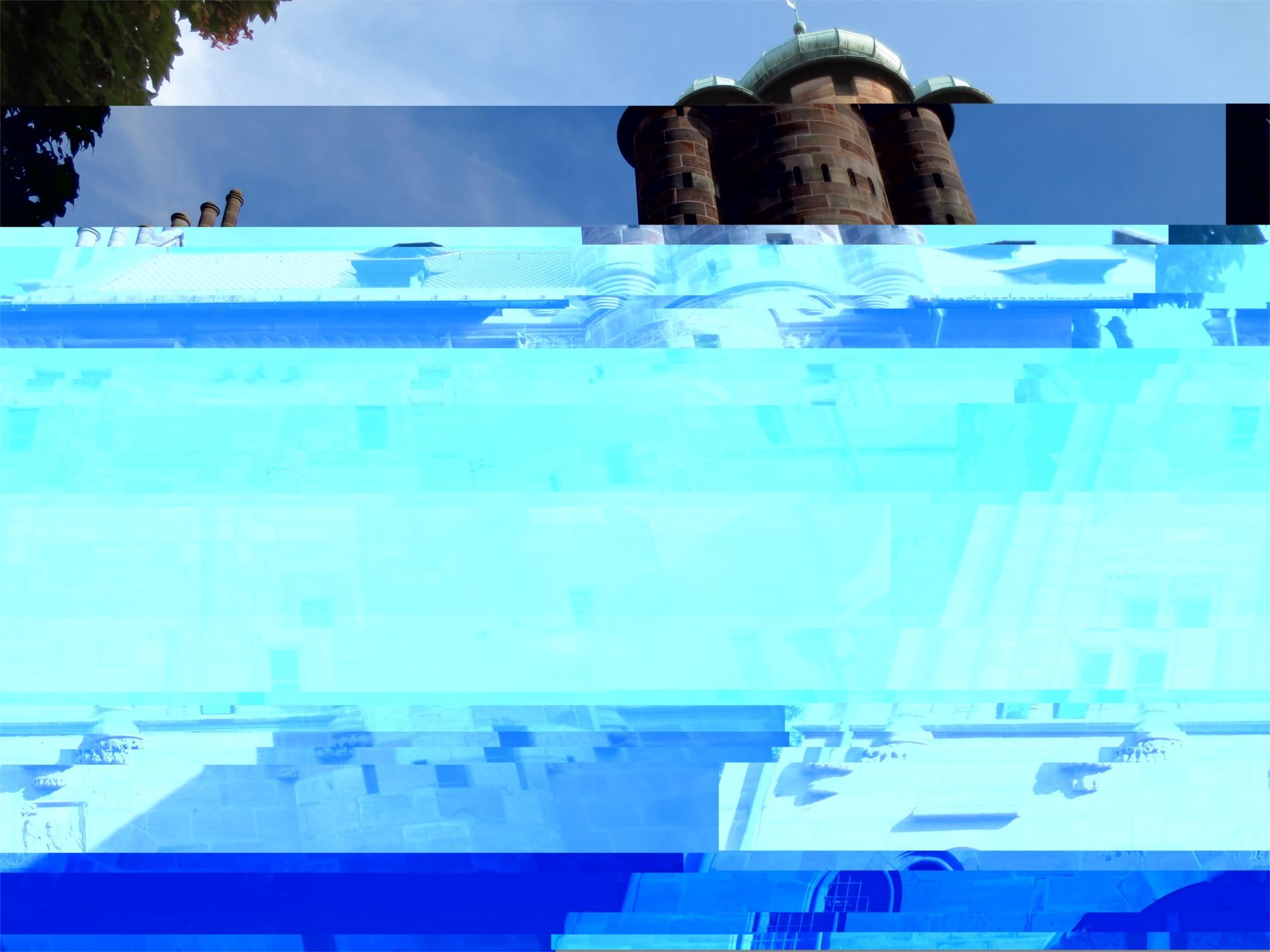 JPEG-Bild mit Artefakten, die durch Datenverlust entstanden sind