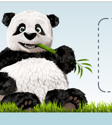 der charakteristische Panda von tinypng